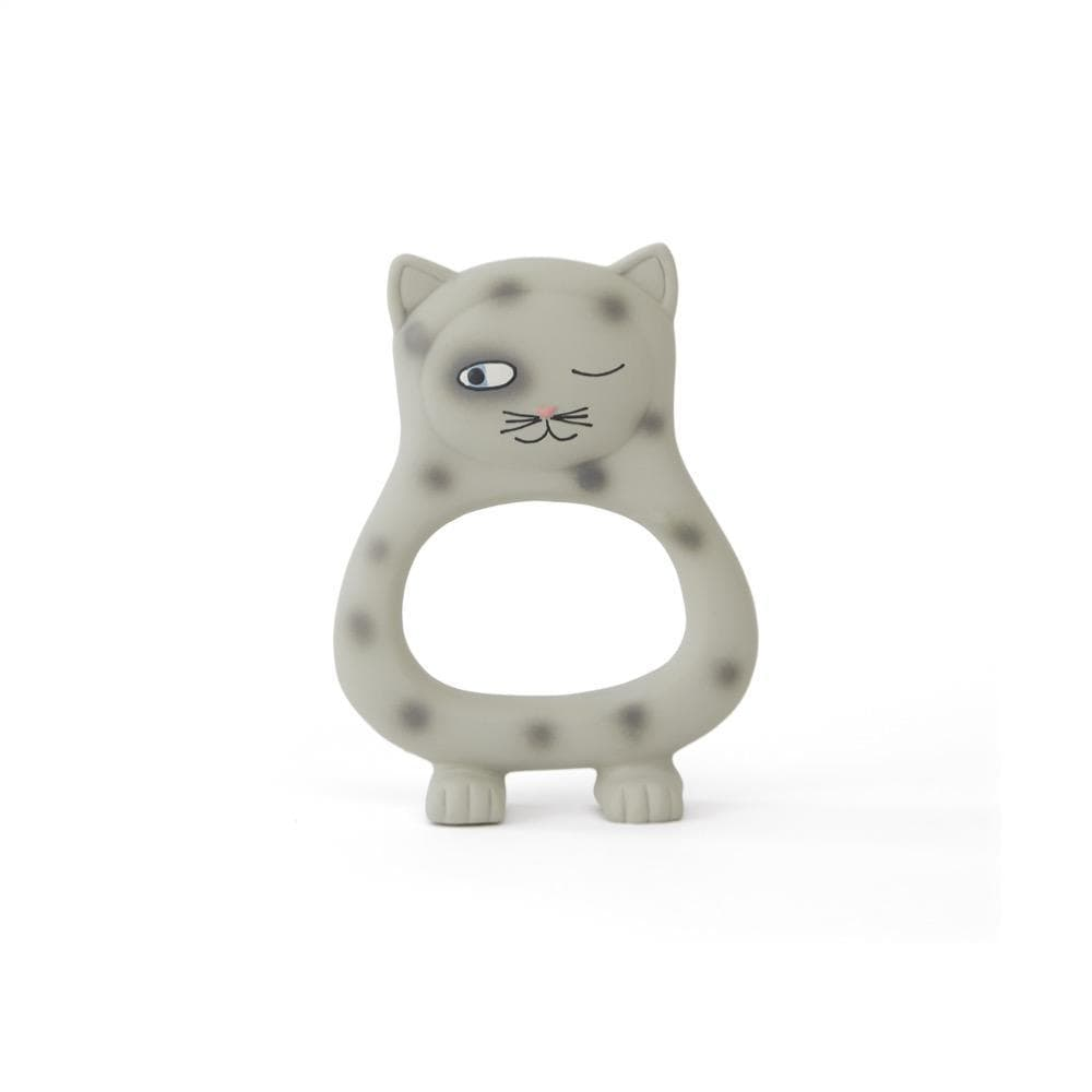 Cat (Grey) OYOY Mini Natural Rubber Teether (Multiple Variants) - Naked Baby Eco Boutique