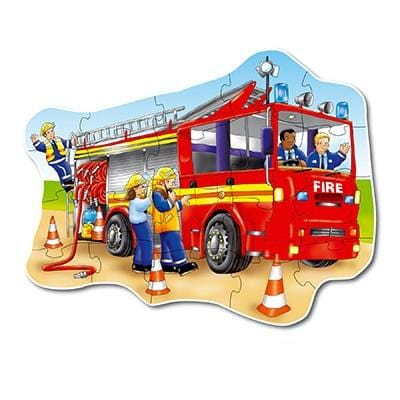 Orchard Toys Big Fire Truck Floor Puzzle - Naked Baby Eco Boutique