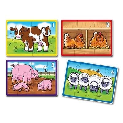 Orchard Toys Farm Four in a Box Jigsaw Puzzle - Naked Baby Eco Boutique