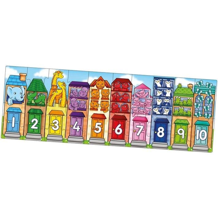 Orchard Toys Number Street Jigsaw Puzzle - Naked Baby Eco Boutique