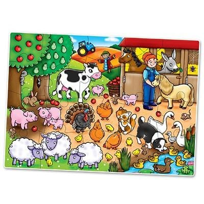 Orchard Toys Who's on the Farm? Jigsaw Puzzle - Naked Baby Eco Boutique