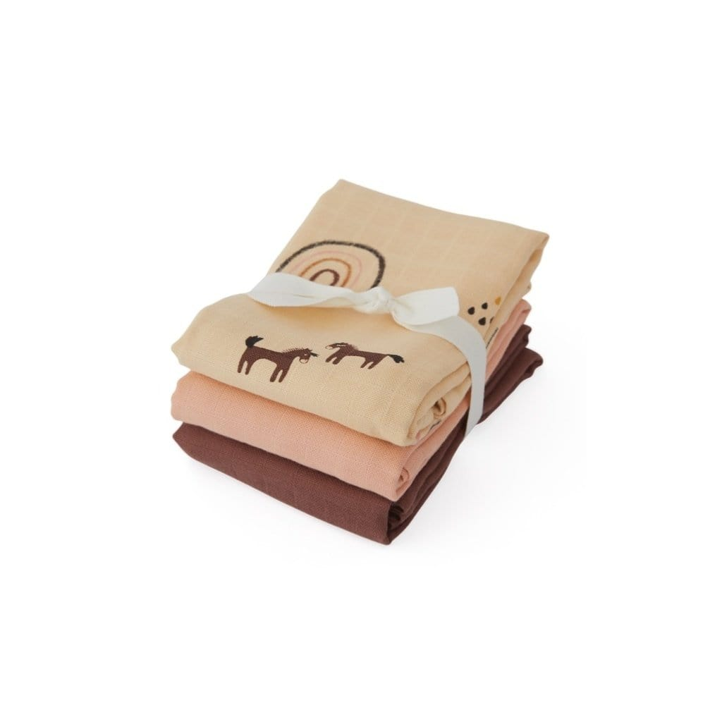 Oyoy Mini Organic Muslin Squares (Multiple Variants) - Naked Baby Eco Boutique