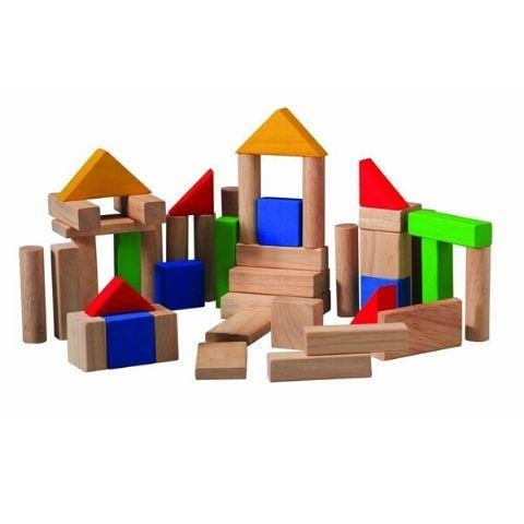 Plan Toys 50 Blocks - Naked Baby Eco Boutique