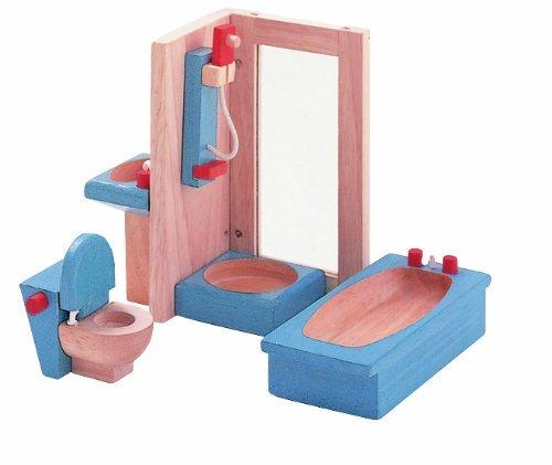 Plan Toys Dollhouse Bathroom Furniture - Naked Baby Eco Boutique