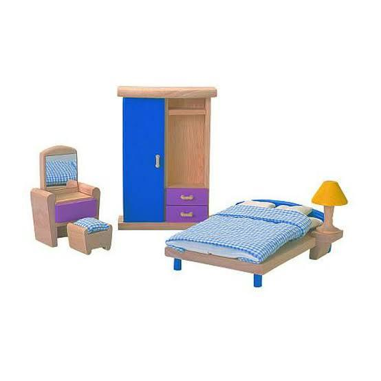 Plan Toys Dollhouse Bedroom Furniture - Naked Baby Eco Boutique