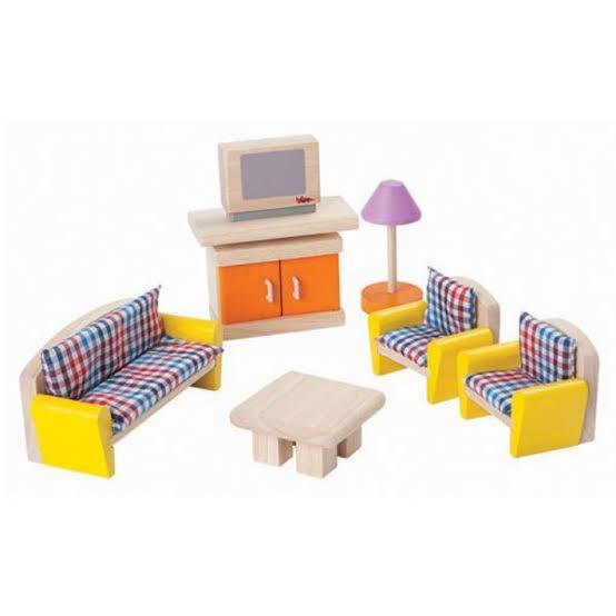 Plan Toys Dollhouse Living Room Furniture - Naked Baby Eco Boutique