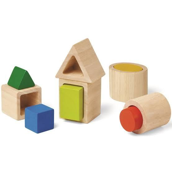 Plan Toys Geo Matching Boxes - Naked Baby Eco Boutique
