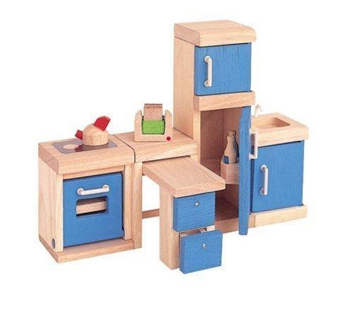 Plan Toys Dollhouse Kitchen Furniture - Naked Baby Eco Boutique