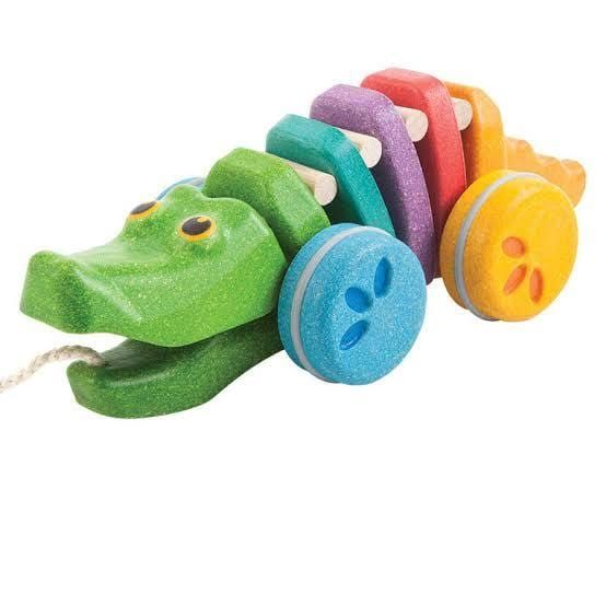 Plan Toys Rainbow Alligator - Naked Baby Eco Boutique