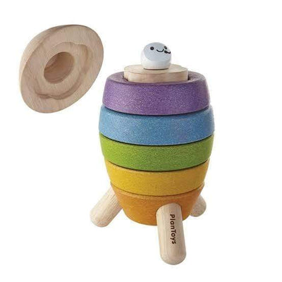 Plan Toys Stacking Rocket - Naked Baby Eco Boutique