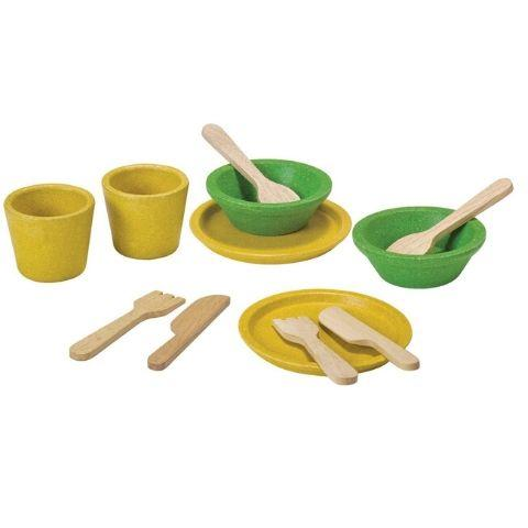 Plan Toys Tableware Set - Naked Baby Eco Boutique