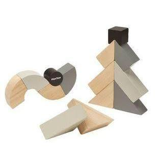 Plan Toys Twisted Blocks - DAMAGED BOX - Naked Baby Eco Boutique