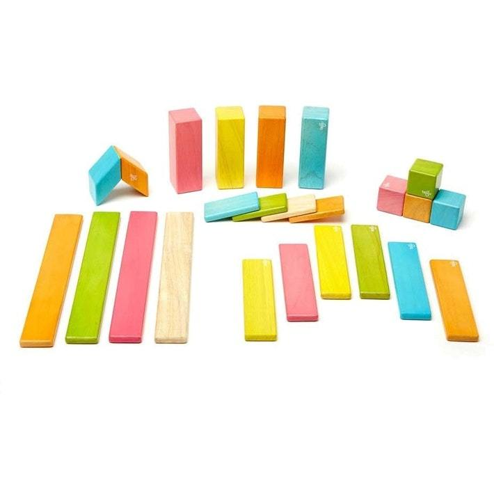 Tegu Magentic Wooden Blocks - 24-Piece Set - Naked Baby Eco Boutique