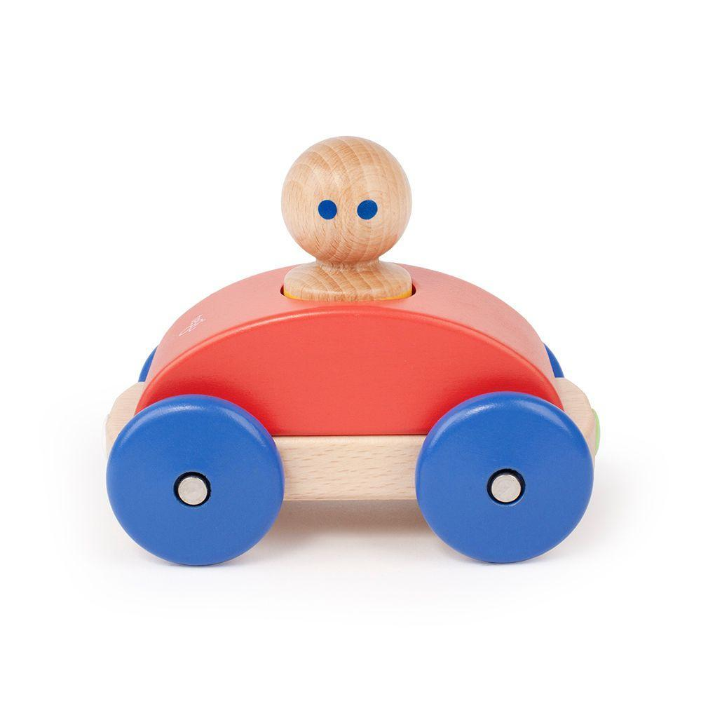 Poppy Tegu Magnetic Wooden Racer (Multiple Variants) - Naked Baby Eco Boutique