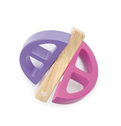 Pink & Purple Tegu Magnetic Wooden Swivel Bug (Multiple Variants) - Naked Baby Eco Boutique