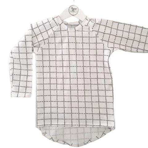 Thomas Pie Grid Raglan Tee - LUCKY LAST - 6-12 MONTHS - Naked Baby Eco Boutique