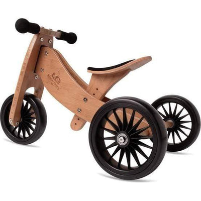 Bamboo Kinderfeets Tiny Tot PLUS Tricycle + Balance Bike (Multiple Variants) - Naked Baby Eco Boutique