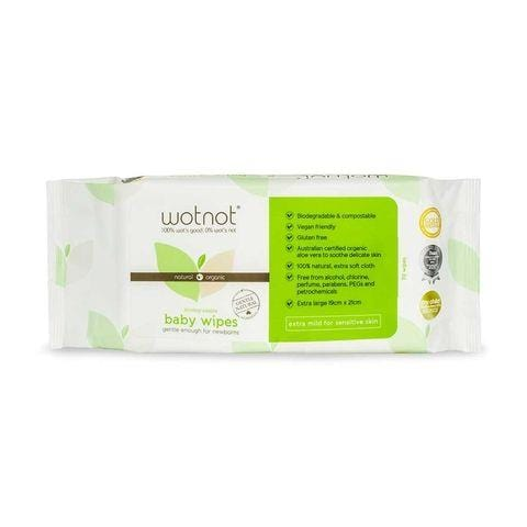 WOTNOT Natural Baby Wipes - Naked Baby Eco Boutique
