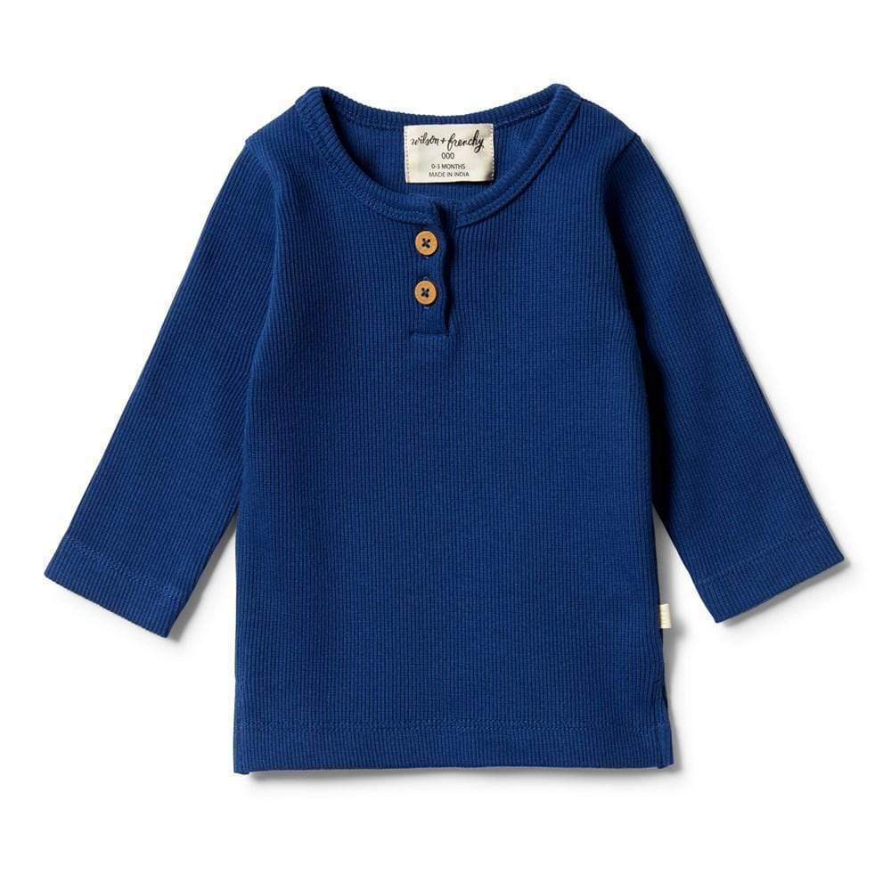 Wilson & Frenchy Organic Rib Henley Top (Multiple Variants) - Naked Baby Eco Boutique