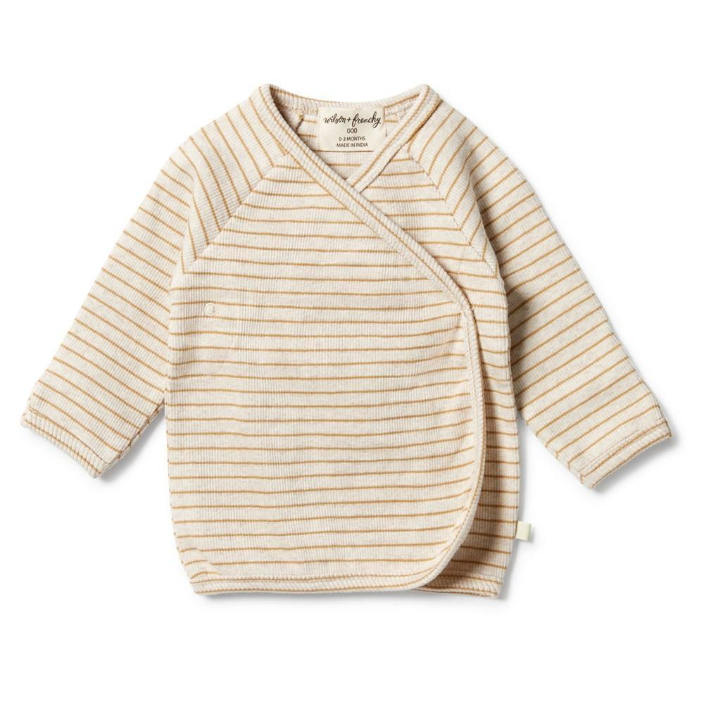 Wilson-and-Frenchy-Organic-Rib-Stripe-Kimono-Top-Antelope-Naked-Baby-Eco-Boutique