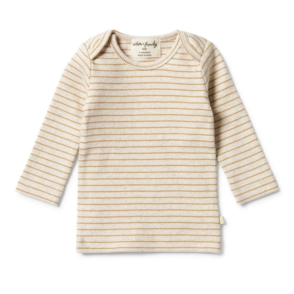 Antelope / 0-3 Months Wilson & Frenchy Organic Rib Stripe Top (Multiple Variants) - Naked Baby Eco Boutique