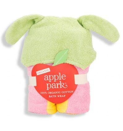 Apple Park Organic Hooded Toddler Bath Wrap - Butterfly - Naked Baby Eco Boutique - New Zealand Eco Friendly Organic Baby Products - 1