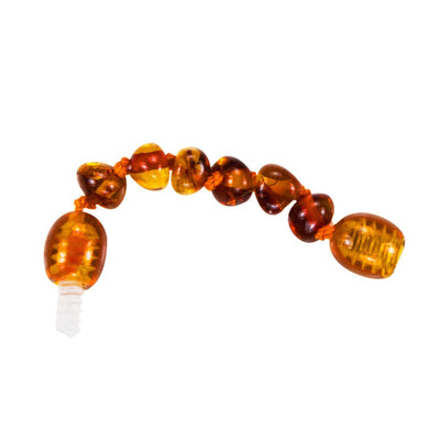 Cognac Bambeado Baby Baltic Amber Extension Piece - Naked Baby Eco Boutique
