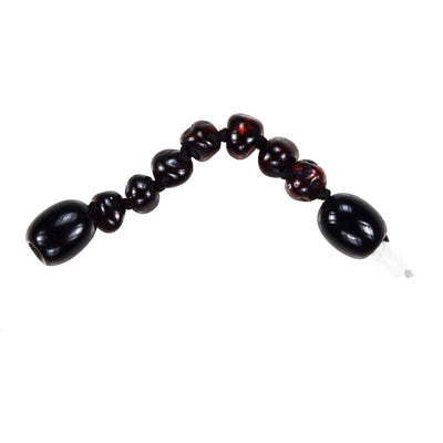 Dark Cherry Bambeado Baby Baltic Amber Extension Piece - Naked Baby Eco Boutique