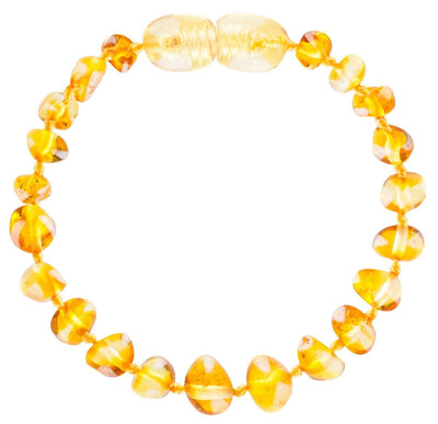 Lemon Bambeado Baby Baltic Amber Teething Anklet - Naked Baby Eco Boutique