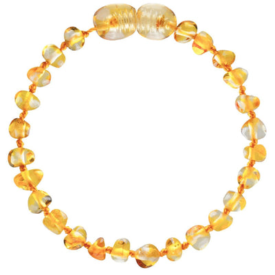 Honey Bambeado Baby Baltic Amber Teething Bracelet - Naked Baby Eco Boutique