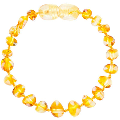 Lemon Bambeado Baby Baltic Amber Teething Bracelet - Naked Baby Eco Boutique