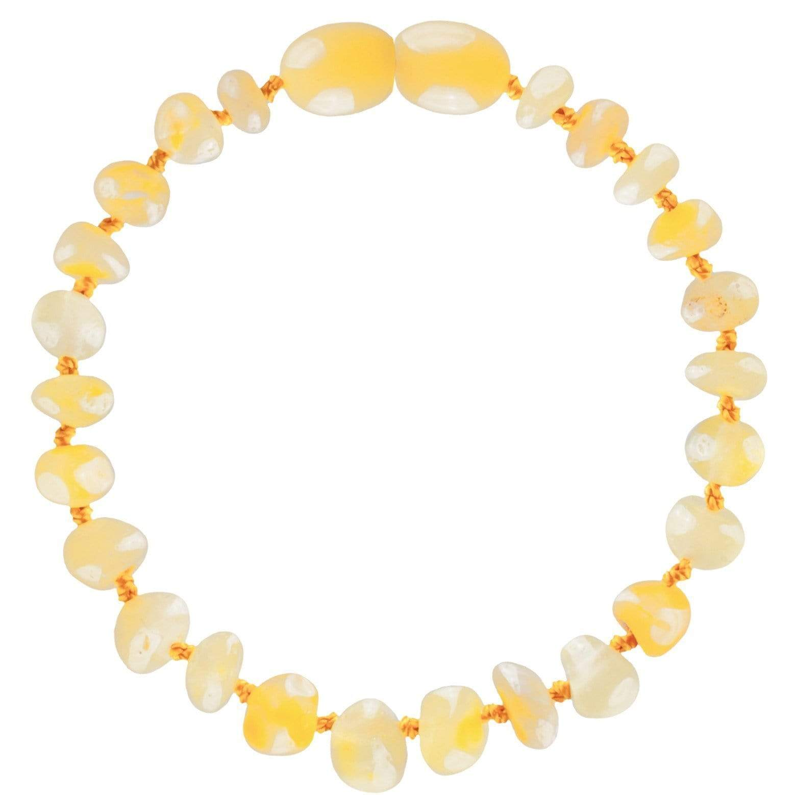 Butterscotch Bambeado Baby Baltic Amber Teething Bracelet - Naked Baby Eco Boutique