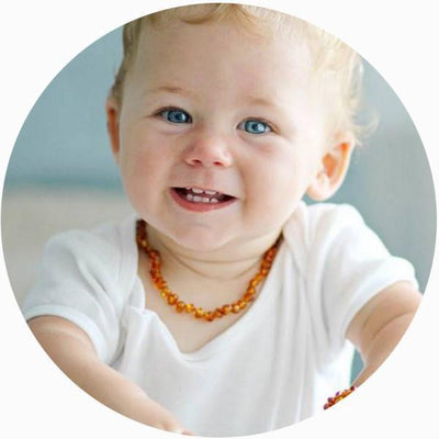 Butterscotch Bambeado Baby Baltic Amber Teething Necklace - Naked Baby Eco Boutique