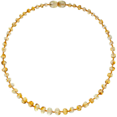 Lemon Bambeado Baby Baltic Amber Teething Necklace - Naked Baby Eco Boutique