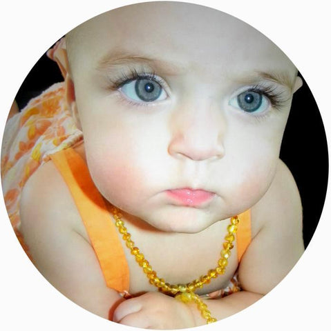 Bambeado Baby Baltic Amber Teething Necklace - Naked Baby Eco Boutique - New Zealand Eco Friendly Organic Baby Products - 12