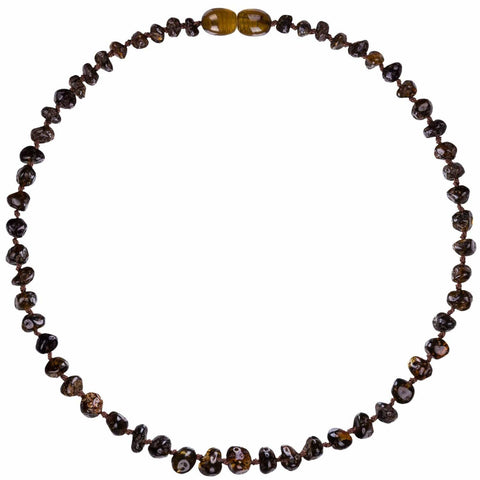 Bambeado Baby Baltic Amber Teething Necklace - Naked Baby Eco Boutique - New Zealand Eco Friendly Organic Baby Products - 7