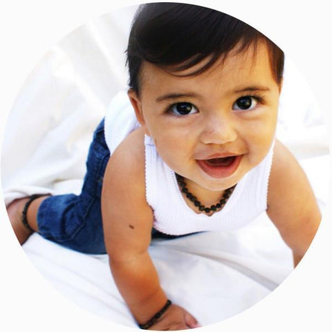Bambeado Baby Baltic Amber Teething Necklace - Naked Baby Eco Boutique - New Zealand Eco Friendly Organic Baby Products - 8