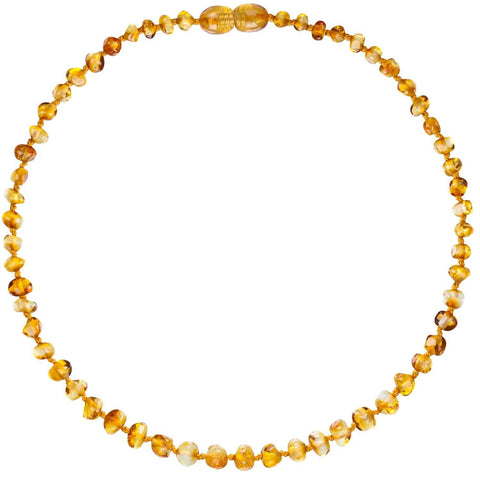 Honey Bambeado Baby Baltic Amber Teething Necklace - Naked Baby Eco Boutique