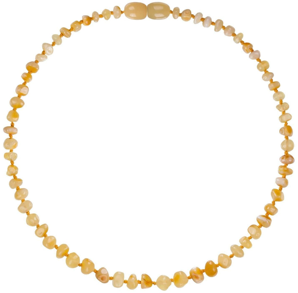 Bambeado Baby Baltic Amber Teething Necklace - Naked Baby Eco Boutique - New Zealand Eco Friendly Organic Baby Products - 1