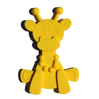 Yellow Bambeado Little Bam Bam My First Teething Toy - Naked Baby Eco Boutique