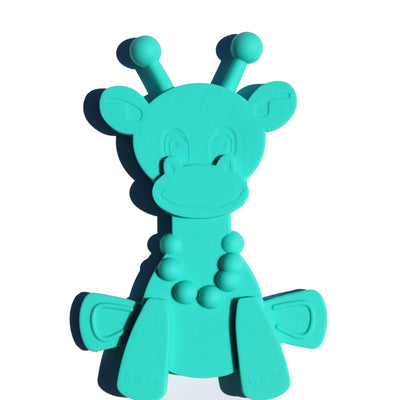 Turquoise Bambeado Little Bam Bam My First Teething Toy - Naked Baby Eco Boutique