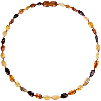 Mixed Bean Bambeado Premium Baby Baltic Amber Teething Necklace - Naked Baby Eco Boutique