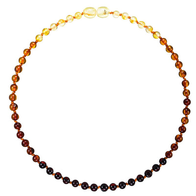 Rainbow Bambeado Premium Baby Baltic Amber Teething Necklace - Naked Baby Eco Boutique