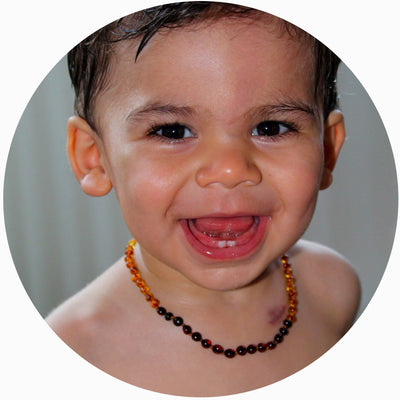Butterscotch Bambeado Premium Baby Baltic Amber Teething Necklace - Naked Baby Eco Boutique