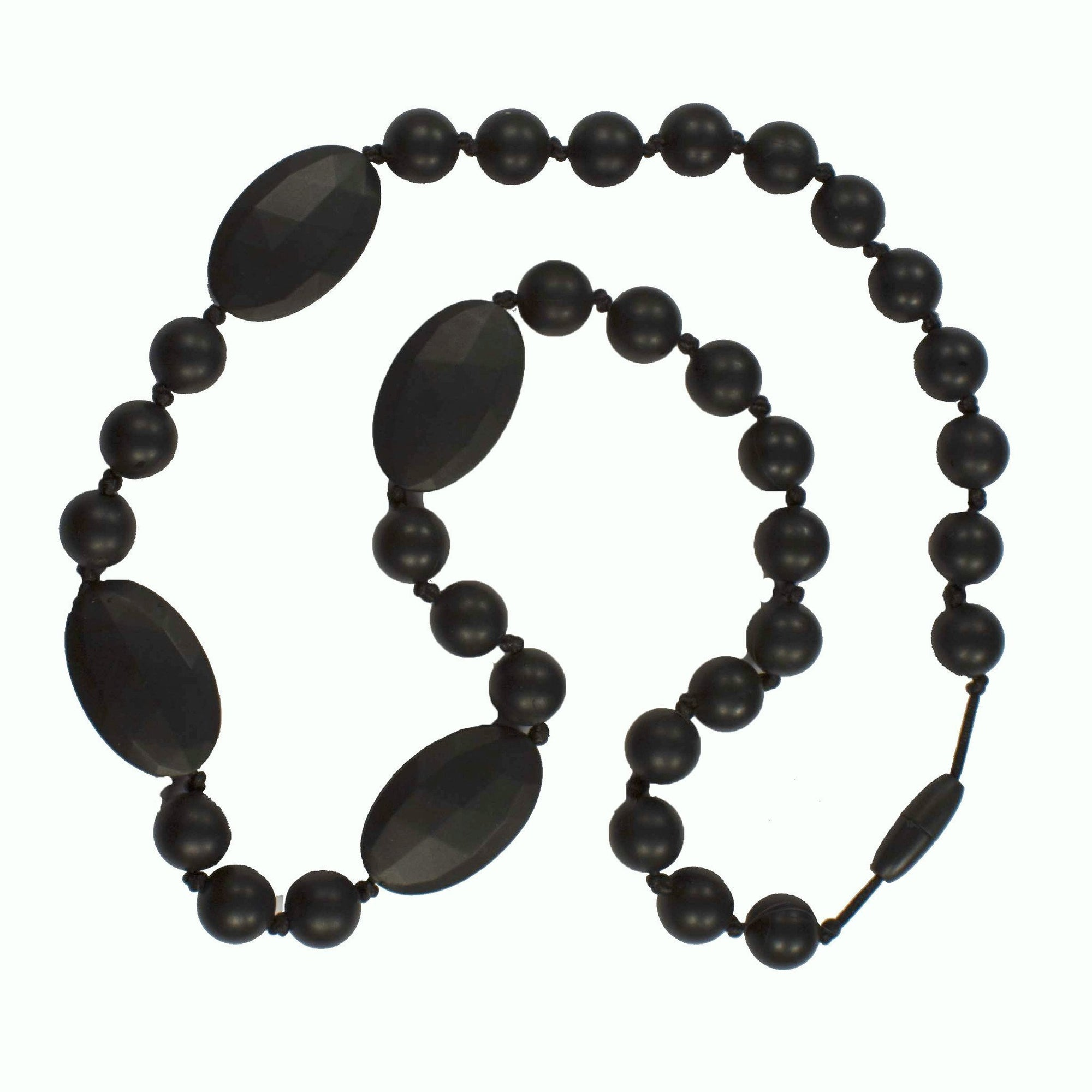 Black Bambeado Silicone Amalie Necklace - Naked Baby Eco Boutique
