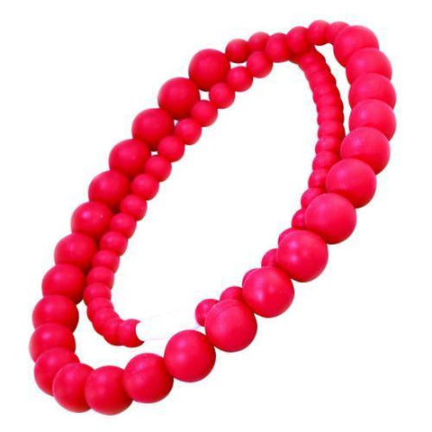 Bambeado Silicone Round Bead Necklace - Naked Baby Eco Boutique - New Zealand Eco Friendly Organic Baby Products - 6