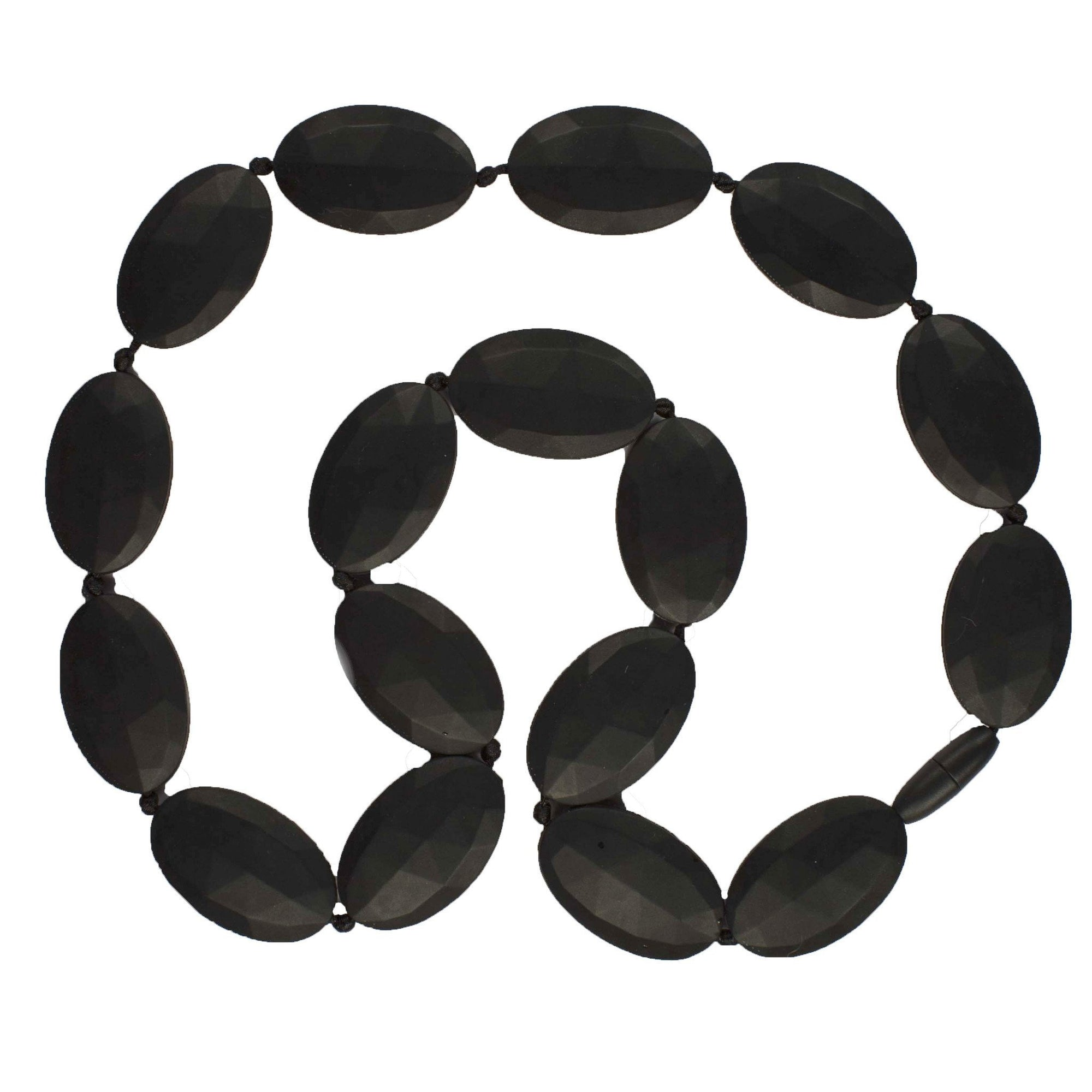 Black Bambeado Silicone Seed Necklace - Naked Baby Eco Boutique
