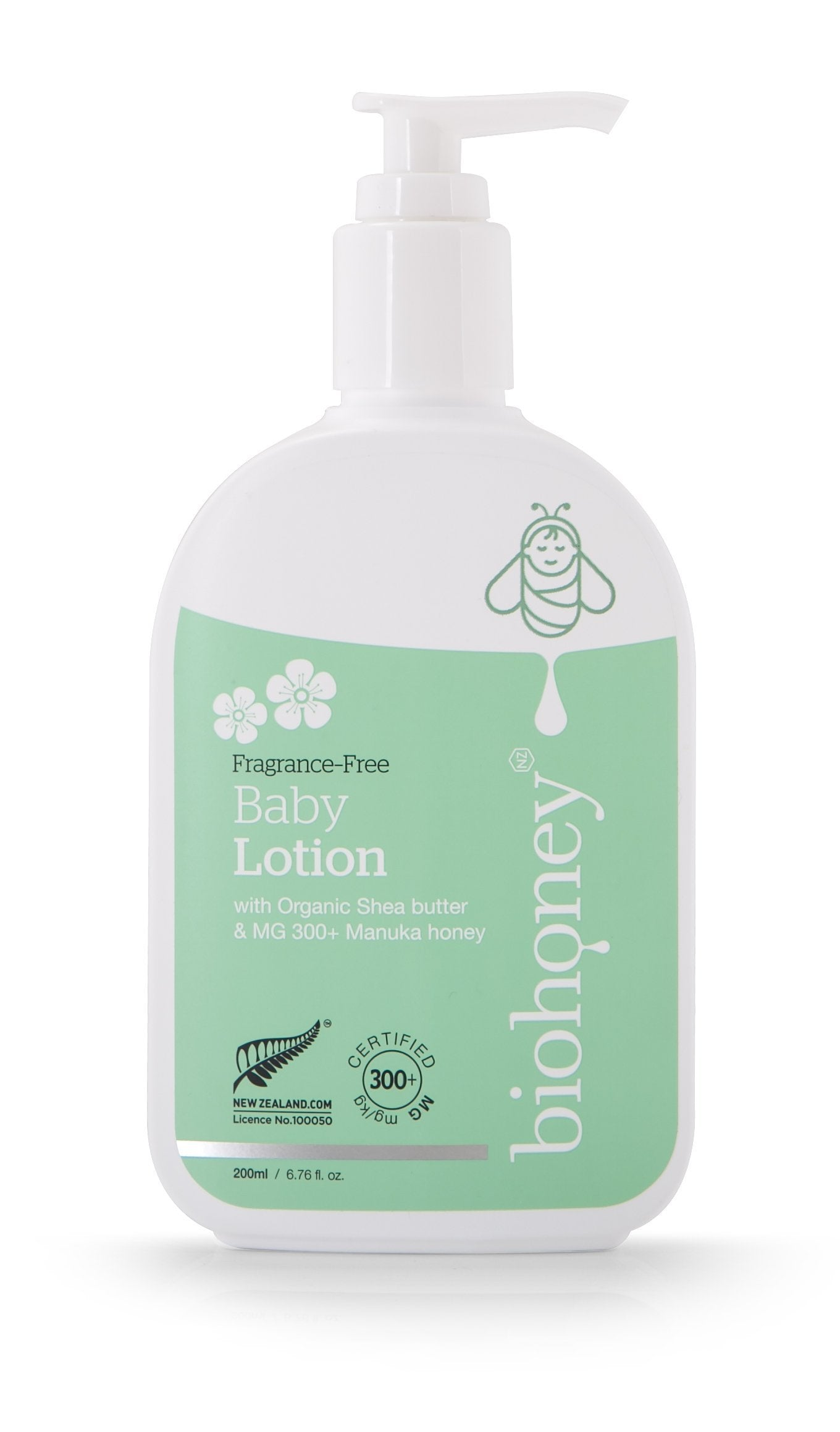 Biohoney Fragrance-Free Natural Baby Lotion - Naked Baby Eco Boutique