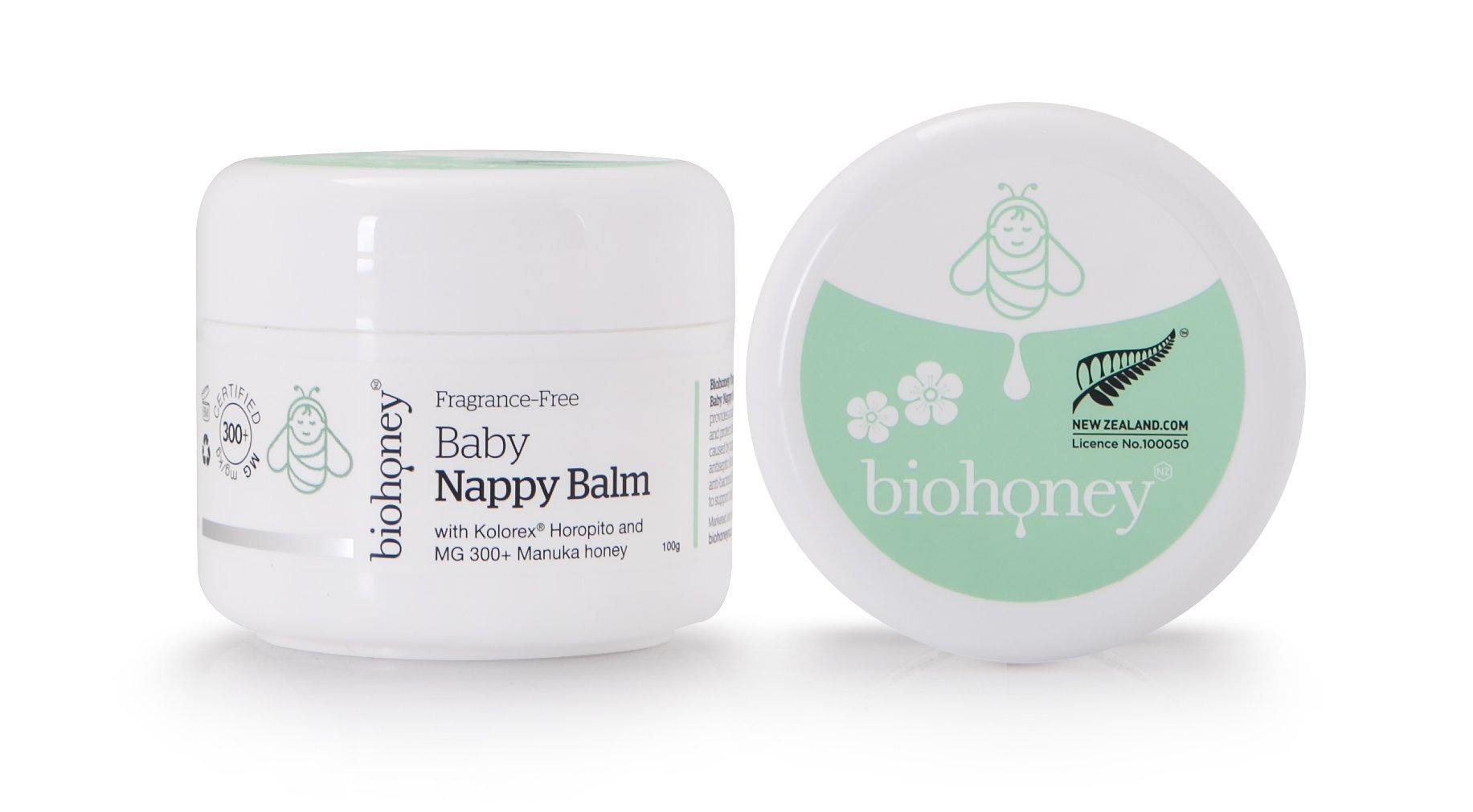 Biohoney Fragrance-Free Natural Baby Nappy Balm - Naked Baby Eco Boutique