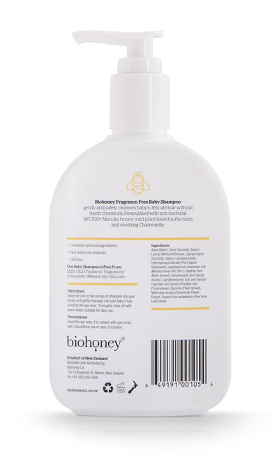 Biohoney Fragrance-Free Natural Baby Shampoo - Naked Baby Eco Boutique